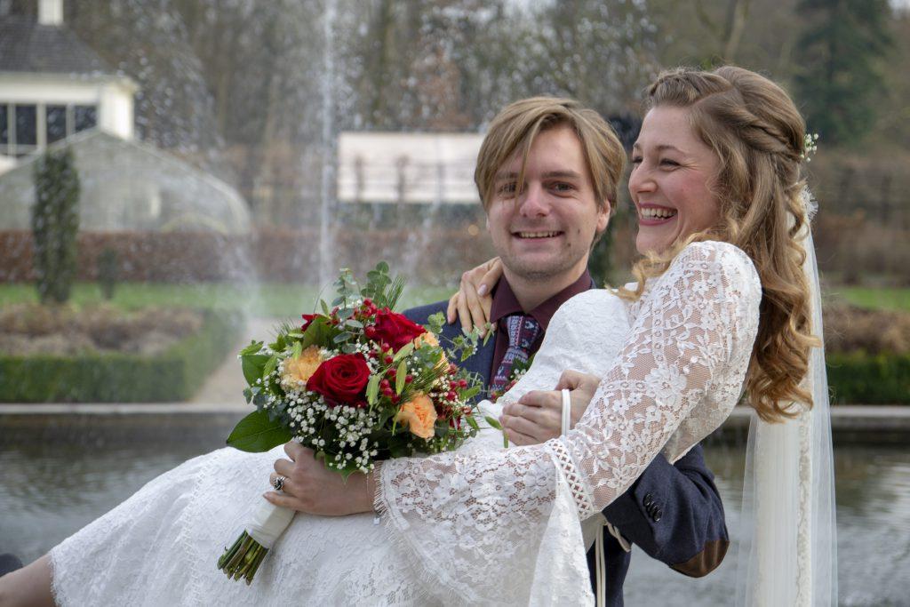 Bruidsfotografie van de bruiloft van Melanie & Leander